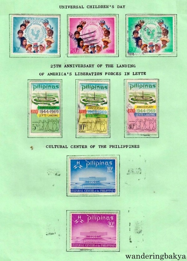 Philippine Stamps: Universal Children's Day, 25th Anniversary of the Landing of America's Liberation Forces in Leyte and Cultural Center of the Philippines.