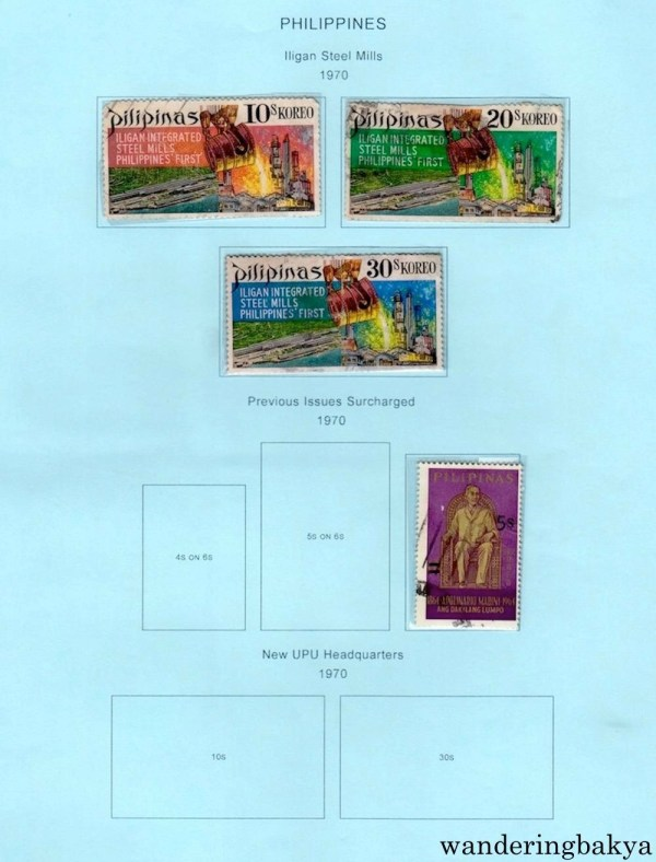 Philippine Stamps: Iligan Steel Mills and Previous Issues Surcharged (1970).
