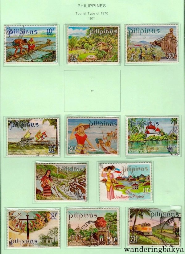 Philippine Stamps: Tourist Type of 1970 (1971).