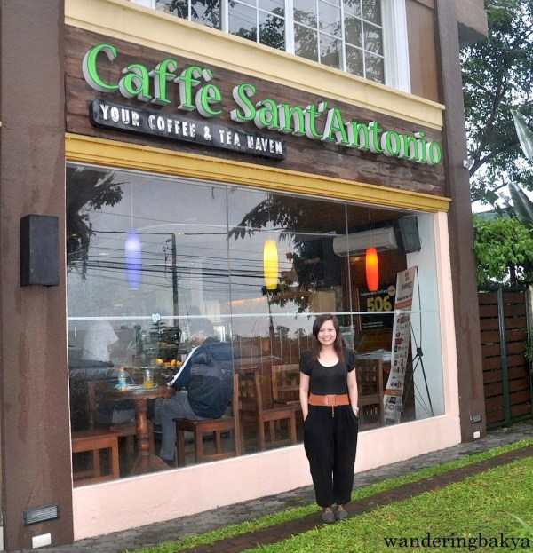 Near the entrance of Caffé San'Antonio in Silang, Cavite.