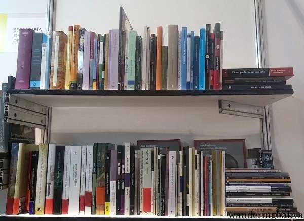 Some of the books on display at ICM booth