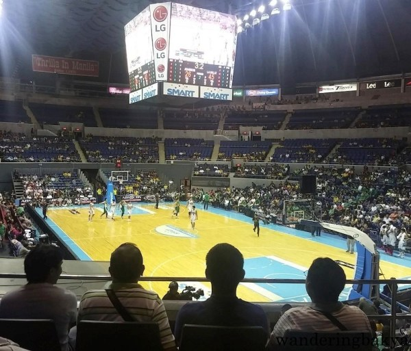 At the end of the second quarter of La Salle-Adamson game.