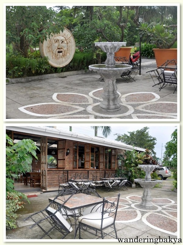 The outdoor area which remained unoccupied during our stay because it rained. It was drizzling when I took these photos.