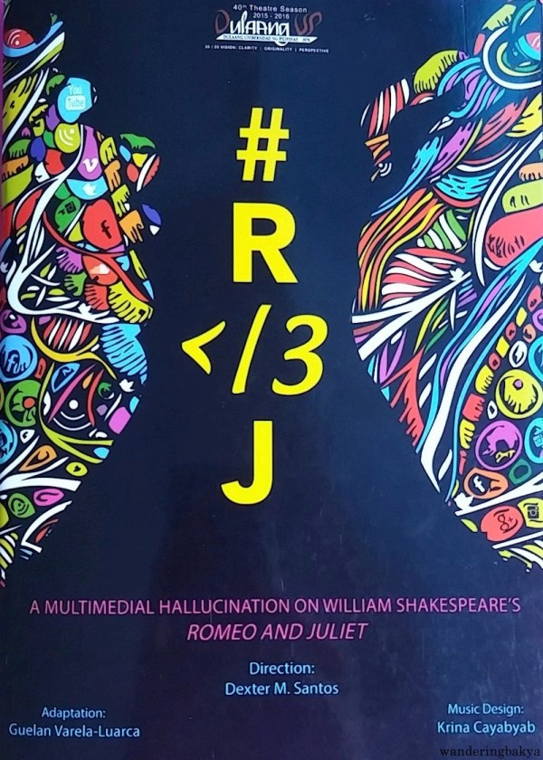 The cover of the program of # R </3 J.