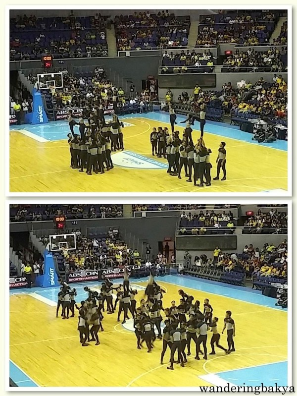 The UP Pep Squad during the half time presentation.