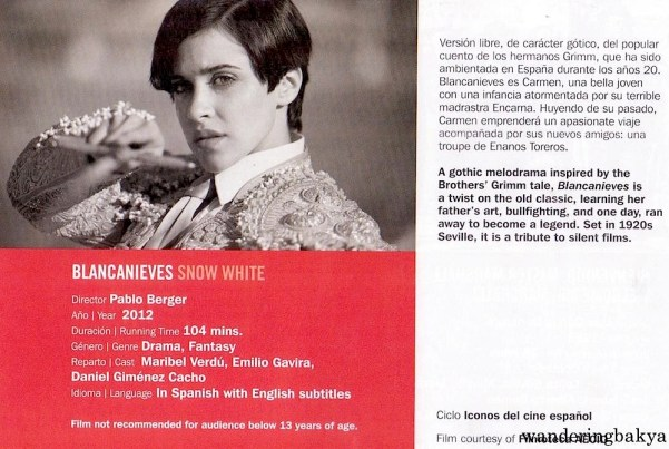 Blancanieves (Snow White) directed by Pablo Berger, 2012