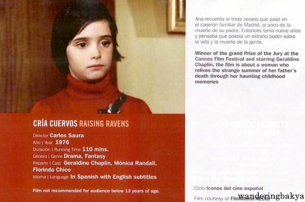 Cría Cuervos (Raising Ravens) directed by Carlos Saura, 1976