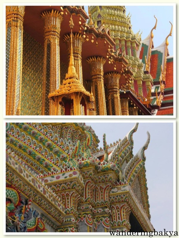 Details of the roofs of the buildings and monuments at The Grand Palace (Bangkok)
