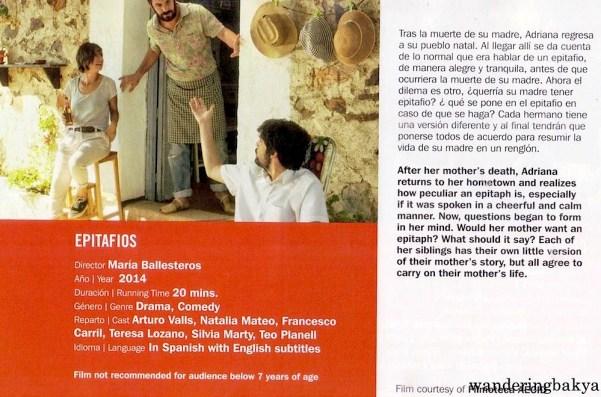 Epitafios directed by María Ballesteros (20 minutes)