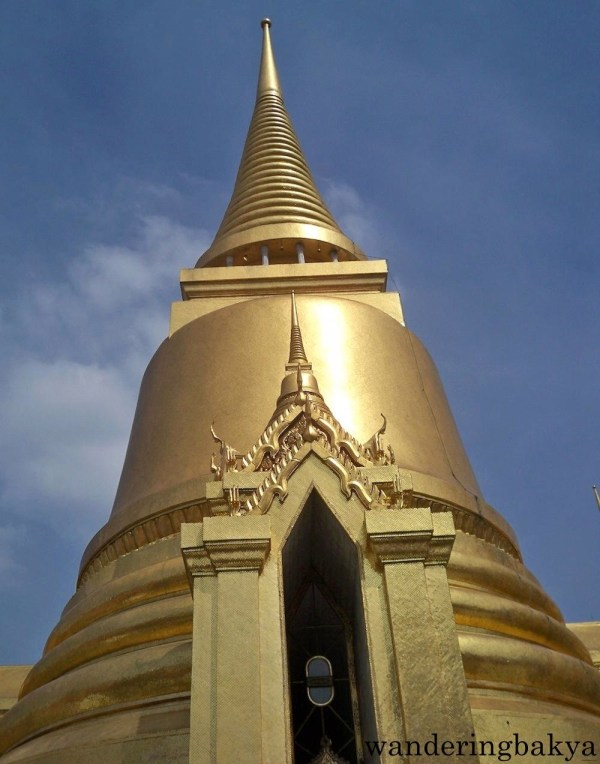 Golden stupa at The Grand Palace