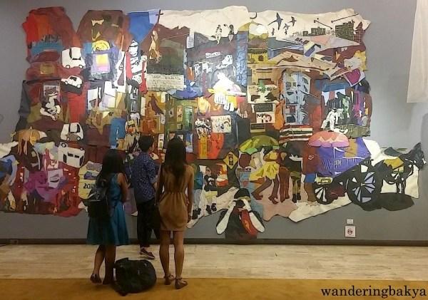 Students who watched Ballet Philippines' Sarong Banggi made a short stop at HANDMADE exhibit.