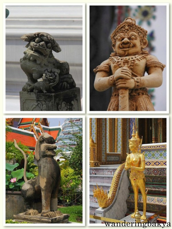 Other interesting images of mythical creatures within The Grand Palace complex