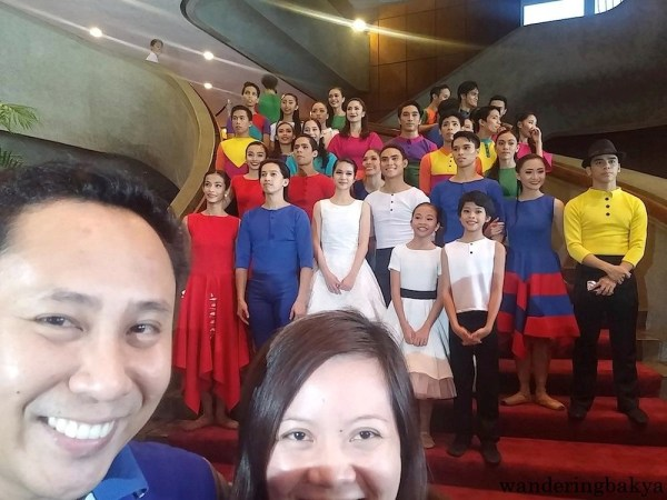 "Ballet Philippines' Sarong Banggi cast with Jed and I and our failed ""almost selfie""."