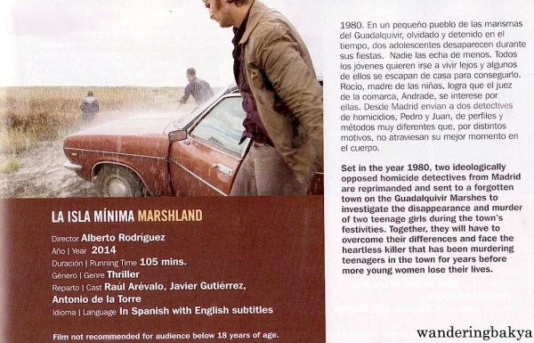 Summary and other details of La Isla Mínima (Marshland) by Alberto Rodríguez. My film review here.