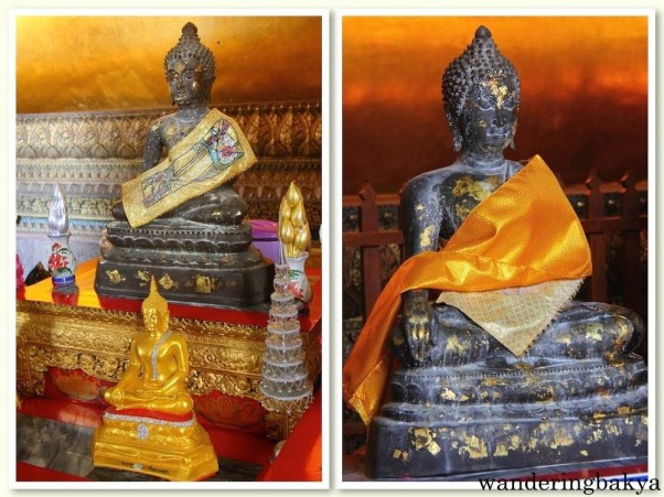 Some of the smaller Buddha images found in Wat Po complex