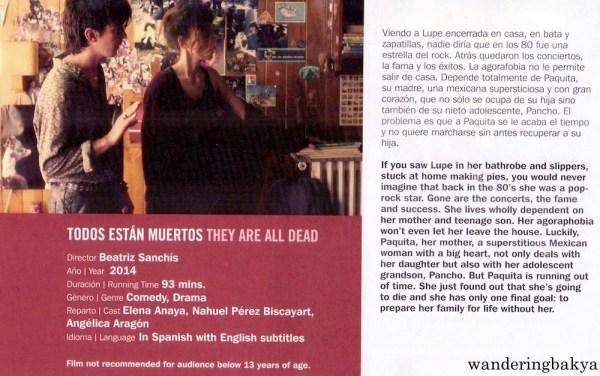 Summary and other details of Todos Están Muertos (They Are All Dead) by Beatriz Sanchís