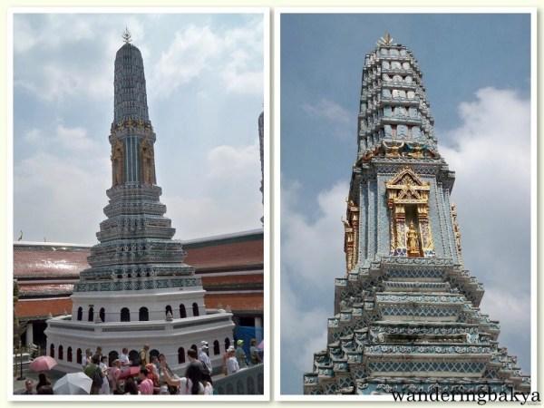 Prangs found in Wat Phra Kaew