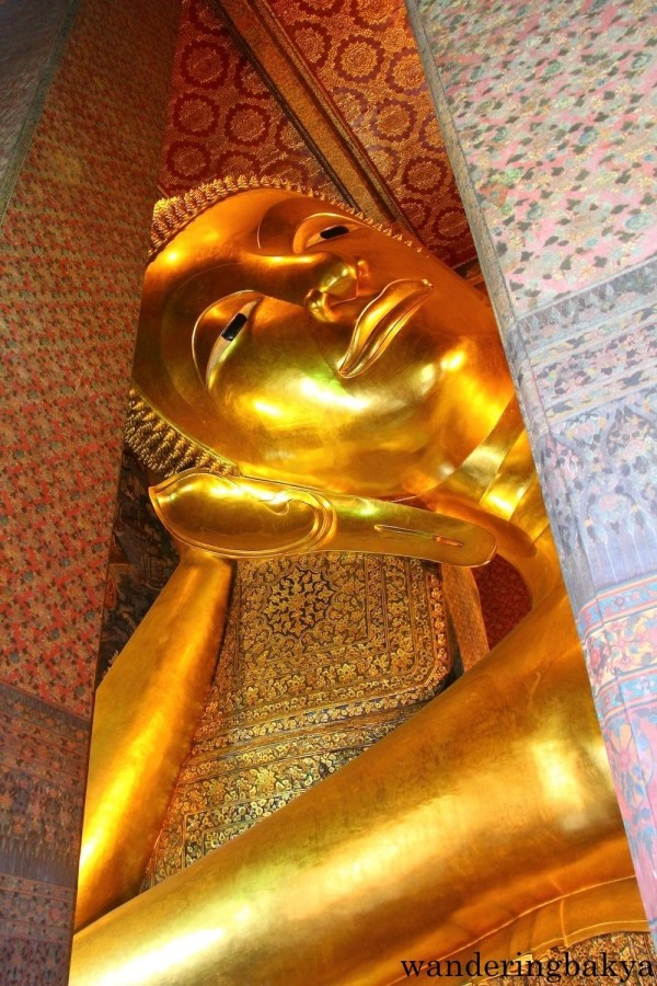 The head of the Reclining Buddha.