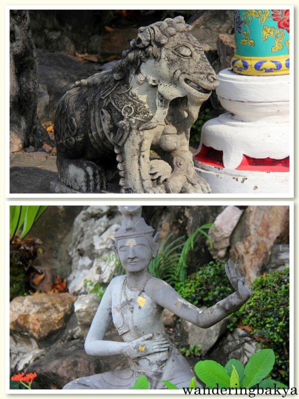 Some of the Chinese images found near the temple garden at Wat Po