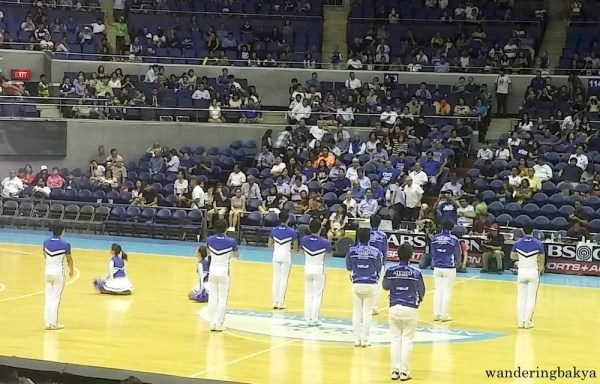 Ateneo Blue Babble Battalion at the Ateneo Blue Eagles vs UP Fighting Maroons game of UAAP 78.