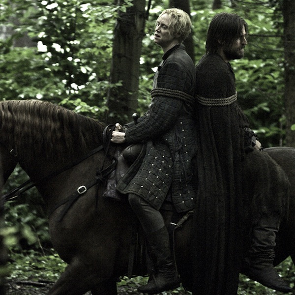 Game of Thrones' Brienne of Tarth and Jaime Lannister. Photo from fanpop.com