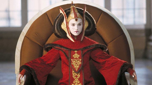 Star Wars' Padmé Amidala in one of her elaborate get-ups. Photo from starwars.com