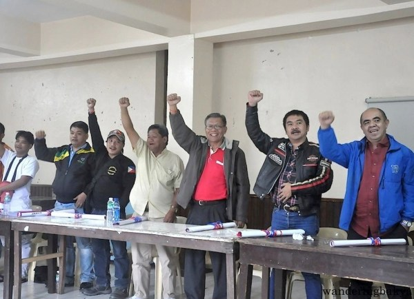 The fiery speech of Atty. Gene Mamondiong urged the MRRD NECC - CAR leaders to raise their fists in agreement.