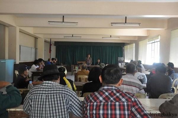 Atty. Gene Mamondiong talks to the leaders of Cordillera Administrative Region.