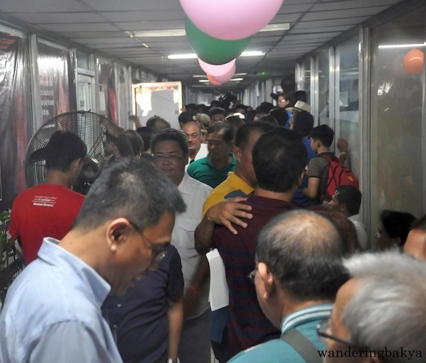 Mayor Duterte's followers filled the hallways of MRRD NECC National Headquarters minutes before he arrived.