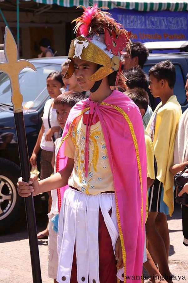 Philippine Holy Week. This boy in a soldier get-up shows enthusiasm for Holy Week activities. Photo by John.