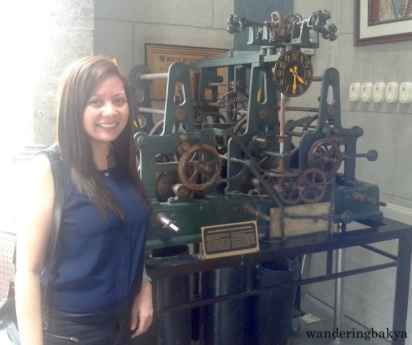 Almost glowing beside the Manila Cathedral-Basilica (MCB) Tower Clock Mechanism