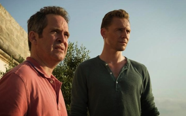 """The Night Manager's Major Lance """"Corky"""" Corkoran (Tom Hollander) and Jonathan Pine (Tom Hiddleston). Corky has the best lines in the show. Photo from telegraph.co.uk"""