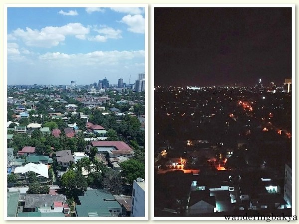 Day and night views from my window.