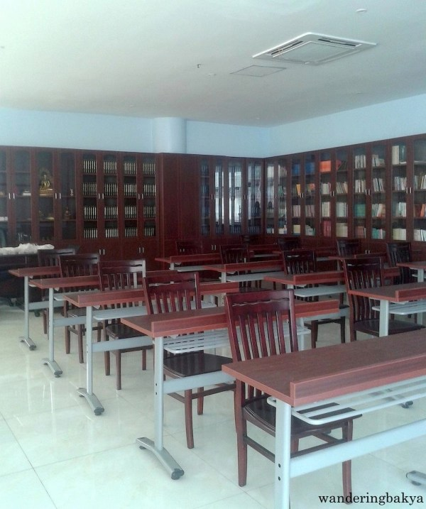 Inside the library of Wisdom Park