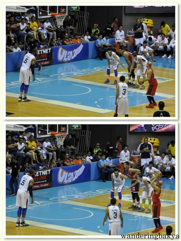 Marc Caguioa of Barangay Ginebra taking a free throw