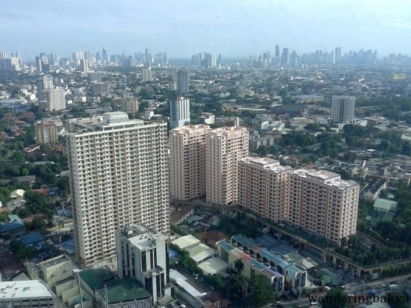 View from the top: high-rise buildings and part of San Juan City