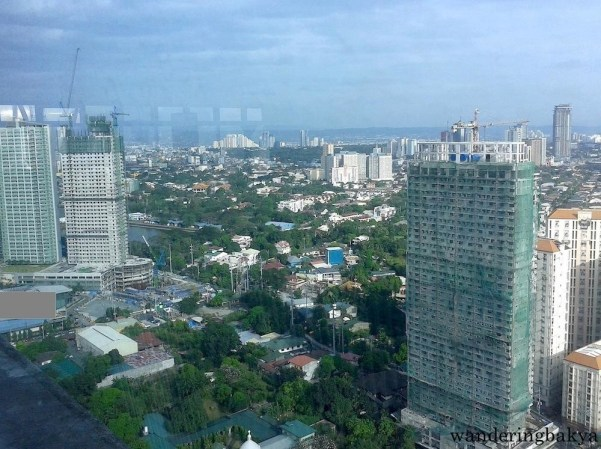 View from the top: construction sites in Quezon City and part of San Juan City