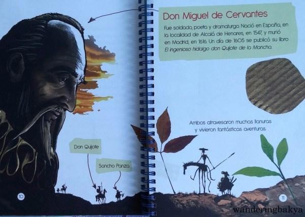 Don Miguel de Cervantes and his creations, Don Quijote and Sancho Panza