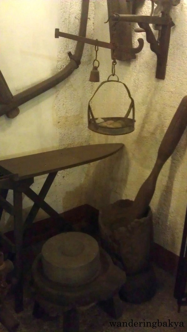 Wooden kabayo (ironing board) is now endangered, replaced by metal ones. The huge mortar and pestle were used to ground rice. My grandparents taught us to use it to break down unripe saba (Cardava banana), add sugar cane sugar to the broken down banana and eat it for snacks. ☺