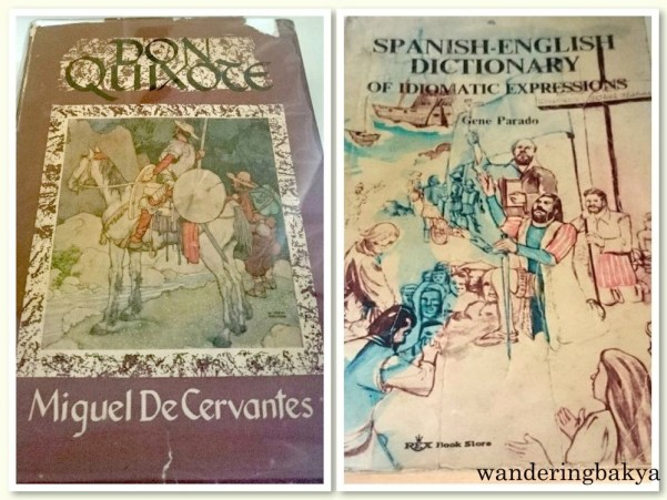 Left: A copy of The Ingenious Gentleman Don Quixote of la Mancha by Miguel de Cervantes. Right: Spanish – English Dictionary of Idiomatic Expressions by Gene Parado. These would have been useful during my study stint at Instituto Cervantes – Manila. Photos by SPRDC.