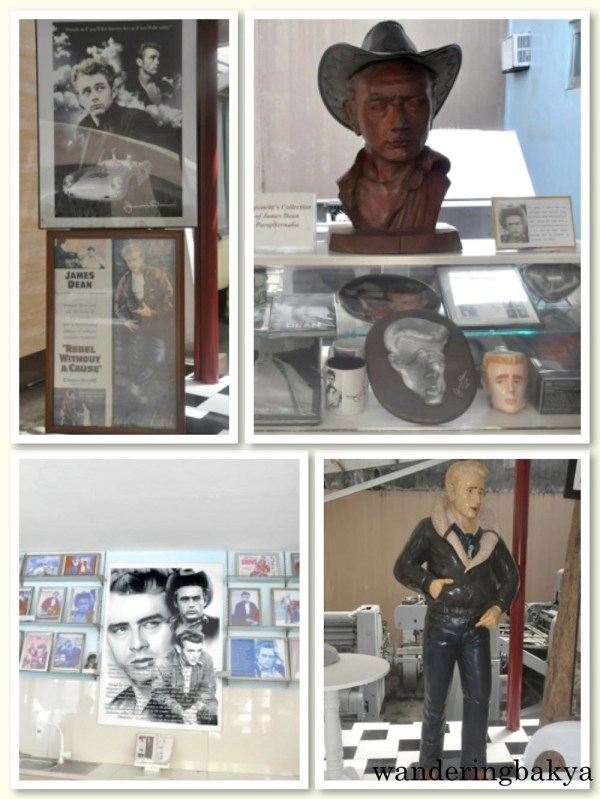Visitors are greeted by images and likeness of James Dean. Atty. Dominador Buhain is an avid fan of the actor. In the receiving area, a bust, several framed posters and a life-size statue of James Dean entertain are available for photo opportunities.