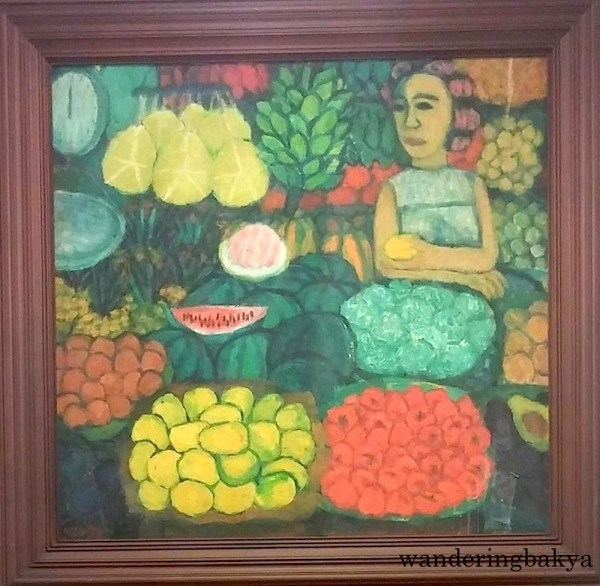 Pruputas (Fruit Vendor), 1978 (Oil on canvas). Collection of Irvin Go.