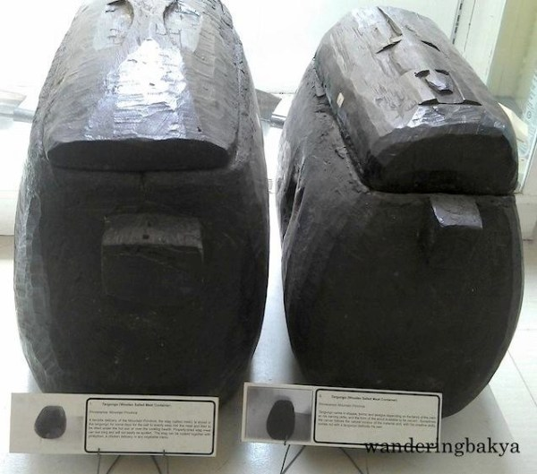 Rectangular tangungo (Salted Meat Containers) from Mt. Province
