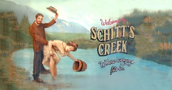 Schitt's Creek billboard. Photo from visitschittscreek.com