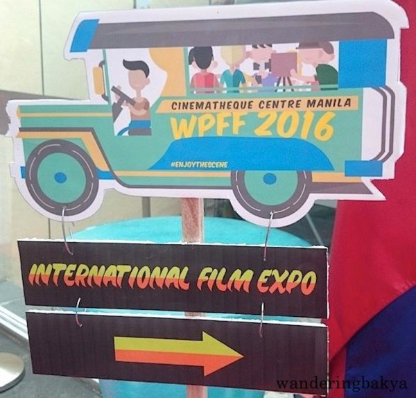 WPFF 2016 International Film Expo Jeepney sign directed guests where to go. Photo by SPRDC.