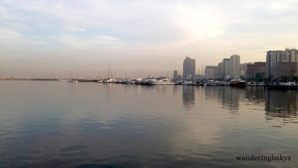 The early morning view of Manila Bay from Harbour Square