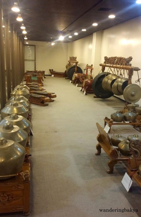 The room dedicated to Indonesian gamelan musical instruments.