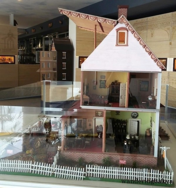 The miniature doll house from another side