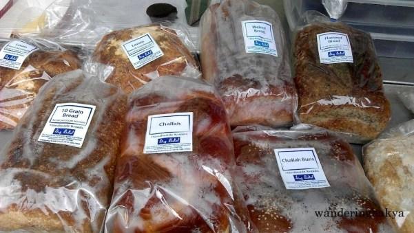Gng. Bukid 10-Grain Bread, No Fat, No Sugar, No Dairy, Challah, Challah Buns, Walnut Bread, and Flaxseed Bread.