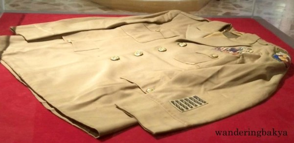 Military suit owned by Carlos P. Romulo